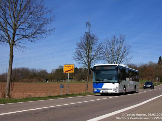 Stadtbus Zweibrücken • Wagen 3, ZW-SB 206 • IVECO Crossway LE