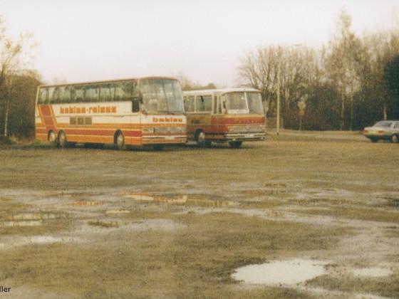 Setra S 200 von Behles und Setra S 150 H von Becker, unbearbeitete Aufnahme
